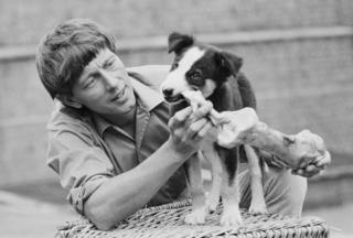 Shep the dog with John Noakes in 1971
