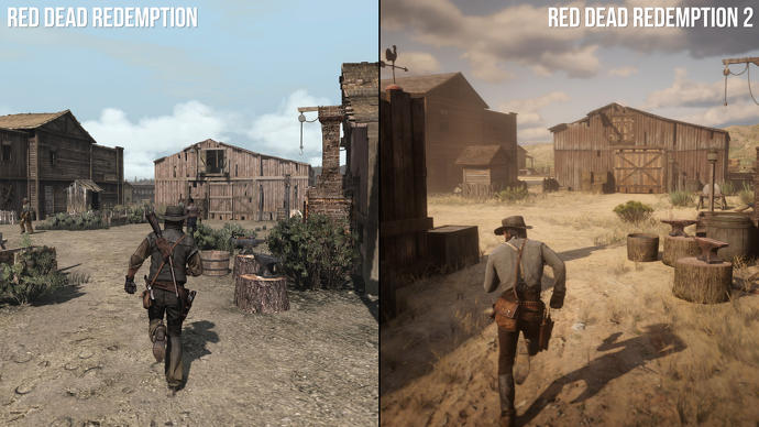 Blackwater and beyond: Red Dead Redemption 1/2 directly compared
