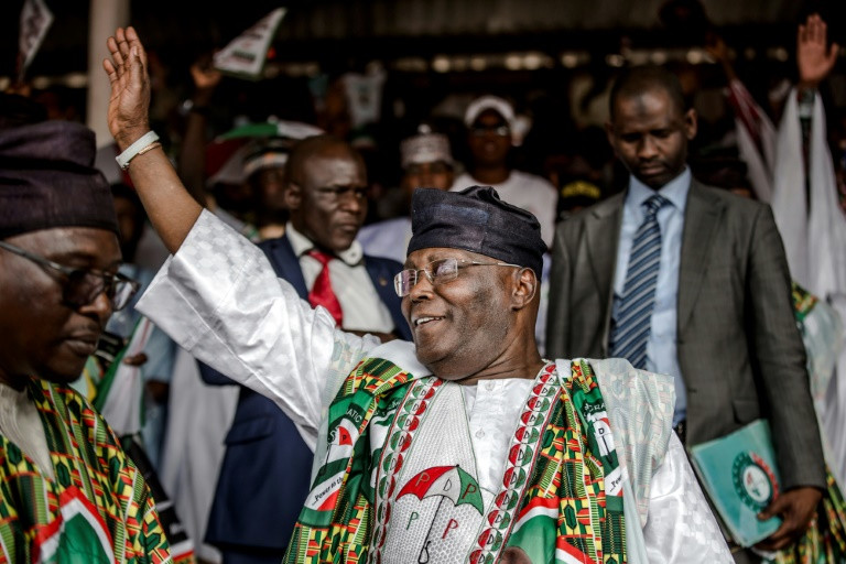 Atiku won the PDP presidential primary in Port Harcourt (AFP)