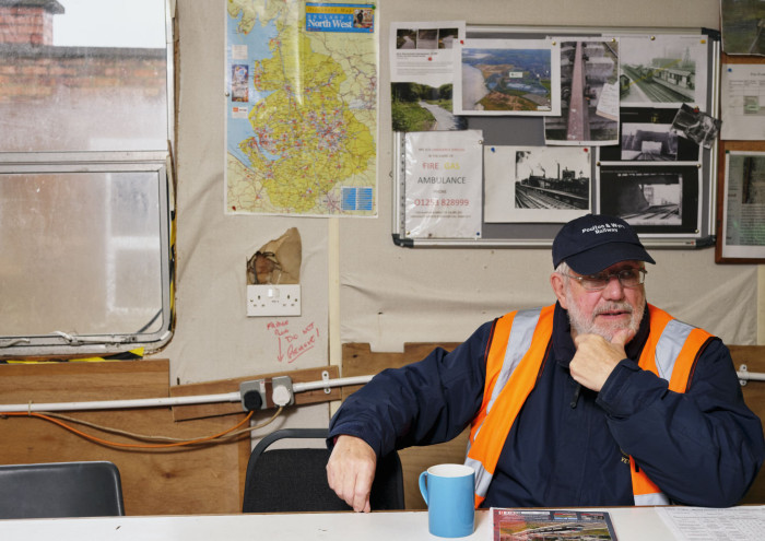 Brian Crawford in the Poulton and Wyre Railway Society. credit Harry Mitchell
