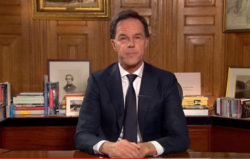 Dutch PM Mark Rutte on 16 March